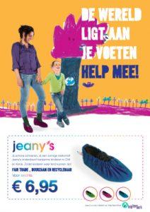 Jeany's denim shoecovers HelpTeamWork